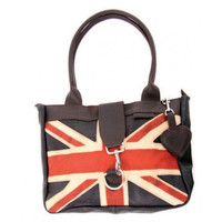 Small Leather Flag Weekend Bag