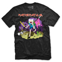 Mathematical - Iron Maidon X Adventure Time - Unisex - Black Tee