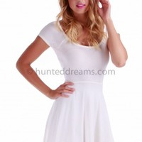 Pixie Skater Dress - White