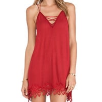 Free People Wicked Spell Dress in Red