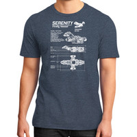 SERENITY FIREFLY District T-Shirt (on man)
