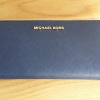 BNWT, MICHAEL KORS JET SET TRAVEL SAFFIANO LEATHER CONTINENTAL WALLET. RRP £135
