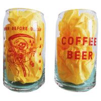 HOME :: Living :: HOUSEWARES :: Beer Before Decaf 16oz. Can Glass