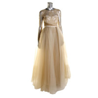 Notte by Marchesa Womens Tulle Lace Evening Dress