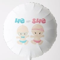 He or She - Large Helium Balloon