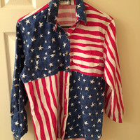 American Flag Button Up