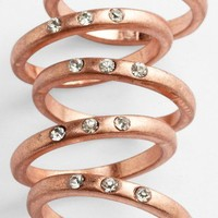 Carole Stone Crystal Stackable Rings (Set of 5) | Nordstrom