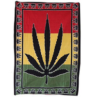 Handicrunch Colorful Leaf Red, Yellow, Green Wall Hanging Tapestry, Home Decor Wall Hanging, Table Cloth Home Décor Bed Spread
