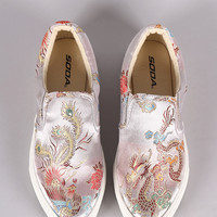 Oriental Embroidered Slip-On Sneaker | UrbanOG