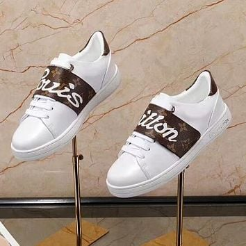 Louis Vuitton Women Fashion Casual Flats Shoes Sneakers Sport Shoes