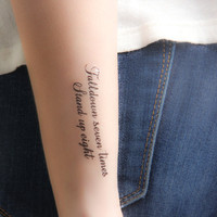 Stand for Something  temporary tattoo Set of 6 by Tattify on Etsy