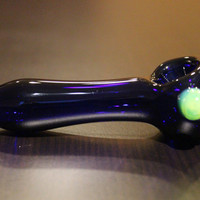 Cobalt Glass Pipe, Heady Cobalt Hand Blown with Slyme