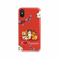 """""""I Love Puppies!"""" Phone Case (iPhone & Samsung  22+ Models)"""