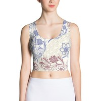 The royal Sublimation Cut & Sew Crop Top