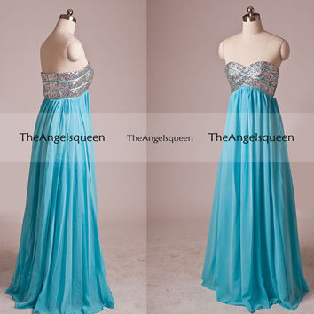 Fashion Sparkling All Sequins Strapless A-line Floor-length Party Dress,Bridesmaid dress,cocktail dresses,evening dresses,senior prom dress