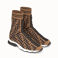 Fendi coloured fabric sports boots-1