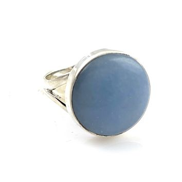 Angelite Sterling Silver Shoreline Ring