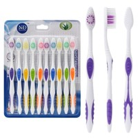 10pcs Ultra Soft Bamboo Charcoal Nano Toothbrush Tooth Brush Oral Health Care