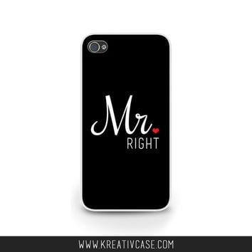 Mr Right, Mrs Always Right, wedding Case, iPhone 5, iPhone 5s, Couples iPhone Case, Wedding case for men, Personalized Cover - k302