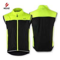 ARSUXEO Breathable Sports Running Vest Windproof Chaleco Ciclismo Climbing Hiking Bicycle Bike Men Cycling Recflective Vest