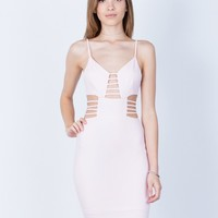 Caged Cut Out Bodycon Dress