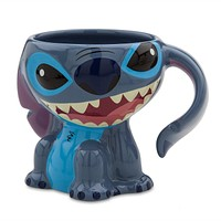 Disney Parks Stitch Sculpted Figural Ceramic Coffee Mug New