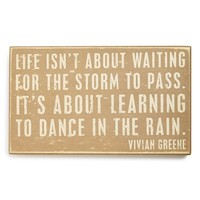 Primitives by Kathy 'Dance in the Rain' Box Sign