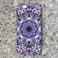 Native Purple Floral iPhone XR Case | iPhone XS Max plus Case | iPhone 5 Case | Galaxy Case 3D 047