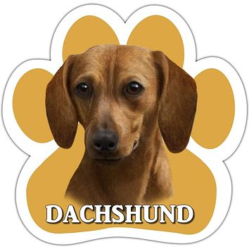 Red Dachshund Paw Shaped Car Magnet