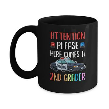 Kids First Day Of School 2020 2nd Grade Police Attention Please Youth Mug