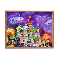 Ginette Fine Art Saint Basils Cathedral Russia Rectangular Tray