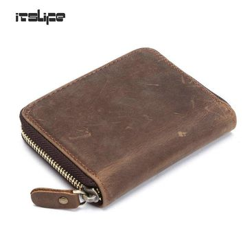 top quality cow crazy horse genuine leather men wallets for men,male purse luxury,carteira masculina free shipping
