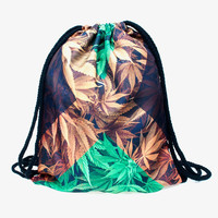 Who Cares Women Backpack jamaica weed 3D Printing Fashion Bag for Picnic Mochila Feminina Drawstring Bag Mens Backpacks