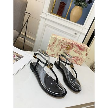 dior women casual shoes boots fashionable casual leather women heels sandal shoes 16
