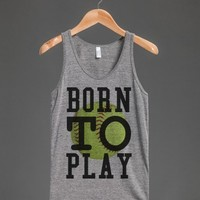 American made vintage fit Born to play Softball tank top t-shirt tee