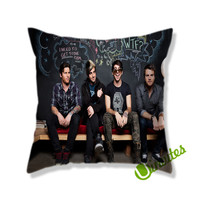 all time low band Square Pillow Cover