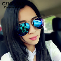 Gimmax vintage sunglasses 2016 female star style mercury reflective sunglasses fashion sunglasses large male