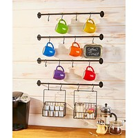 6-Pc. Wall Mounted Coffee Mug Rack