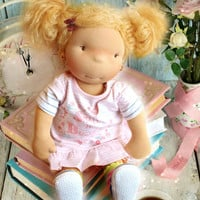 "Waldorf doll, waldorf inspired doll, steiner doll, organic doll, 18"" tall doll, fabric doll, cloth doll, handmade"
