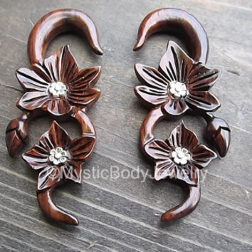 Freedom Fashion Glow in The Dark Anchor Enamel Embossed Double Flared Ear Gauge Plug Sold by Pair