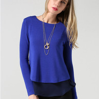 'The Lalita' Solid Color Long Sleeve Blouse