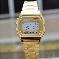 2016 New Fashion gold silver Silicone  Couple Watch digital watch square military men/ women dress sports watches whatch women