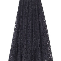 Hollow Out Lace Crochet Long Skirt = 1946532548
