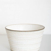 White Etched Bowl