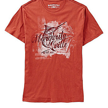 Margaritaville Marlin-Print Short-Sleeve Tee - Pomegranate