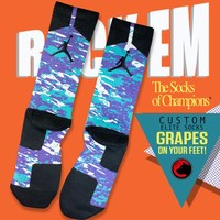 "Air Jordan 5 ""Grape"" Custom Elite Socks 