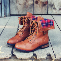 Sweater Weather Plaid Boots