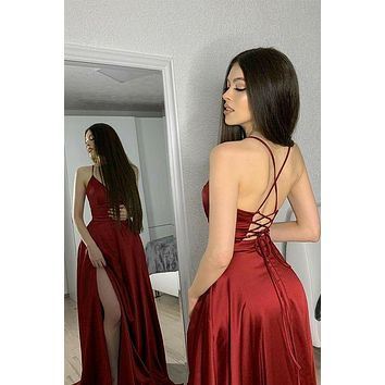 Sexy Prom Dress Lace Up Back, Prom Dresses Long, Evening Formal Dress, Pageant Dress, Party Dress CD0083