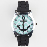 Chevron Anchor Watch Black Combo One Size For Women 22387014901