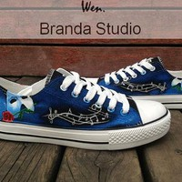 The Phantom Of The Opera Inspired Studio Hand Painted Shoes 52Usd,Paint On Custom Conv